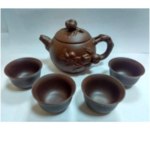 Набор Глиняный Чайник 160 мл и 4 пиалы по 25 мл