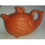 Чайник глиняный светлый 150-200мл.Животные!