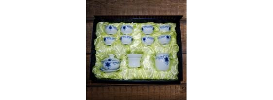 Набор для чаепития из фарфора в сумочке