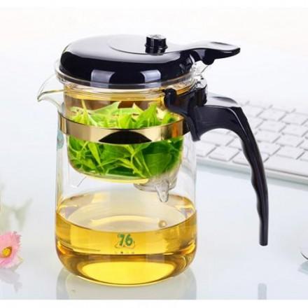 "Заварочный чайник с кнопкой Типод (типот, изипот) ""Brand 76"", Тайвань"