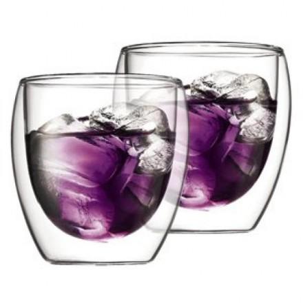 Стеклянные стаканы с двойными стенками Bodum Pavina 250 мл