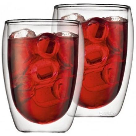 Стеклянные стаканы с двойными стенками Bodum Pavina 350 мл