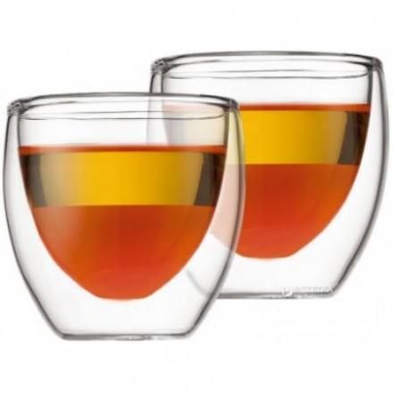 Стеклянные стаканы с двойными стенками Bodum Pavina 80 мл