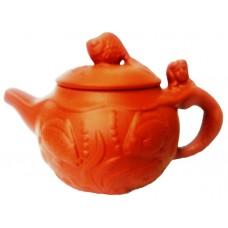Чайник глиняный с лепкой 100-150мл.