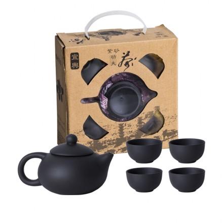 Подарочный чайный набор на 4 персоны из глины