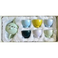Набор для чаепития из фарфора Цветной