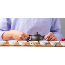 Пиалы для чаепитий из фарфора - 4 штуки в наборе