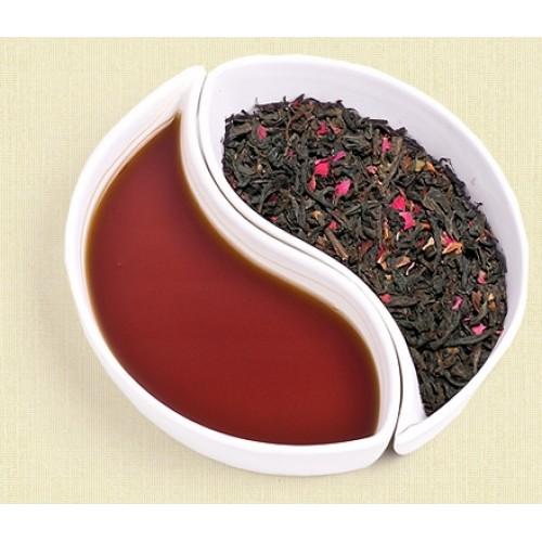 Красный чай с добавлением розы в коробке 100 грамм!
