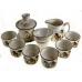 Набор для чаепития из фарфора Бамбук-4