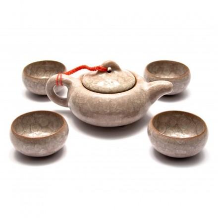 Набор для чаепитий из глазированной глины