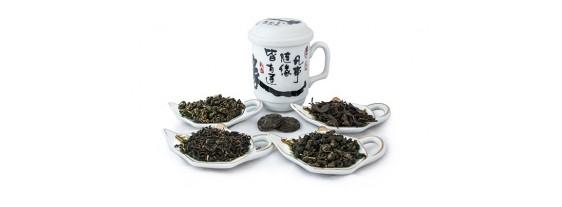 Чашка заварочная и 5 видов чая по 12 грамм