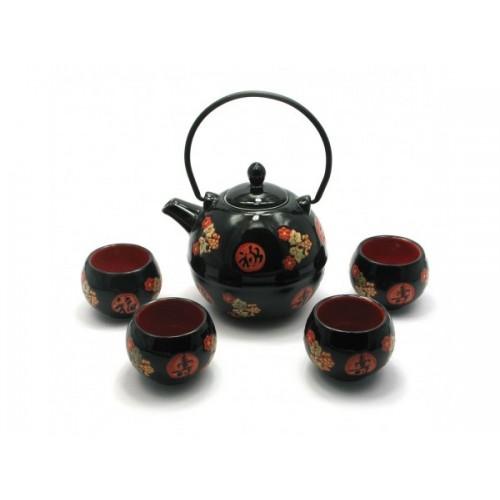 Сервиз керамический - чайник(730 мл.) и 4 чашки!