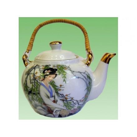 Чайник фарфоровый - Китаянка под ивой