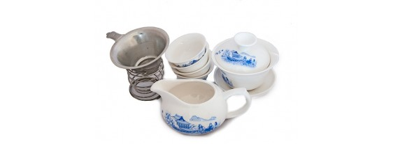 Набор для церемонии чаепития из фарфора - 8 предметов