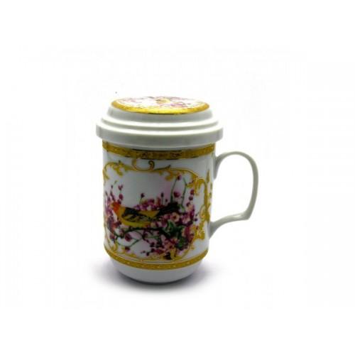Чашка заварочная с ситом - Птица