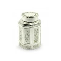 Баночка для чая металлическая - 11х7,5х7,5 см