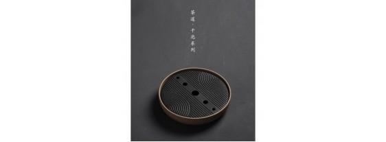 Чабань (Чайный столик) керамика коричневого цвета 20*20*4 см