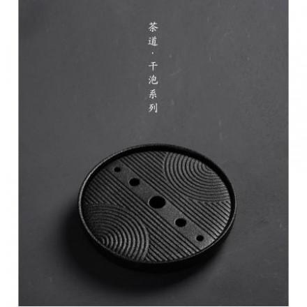 Чабань (Чайный столик) керамика черного цвета 20*20*4 см