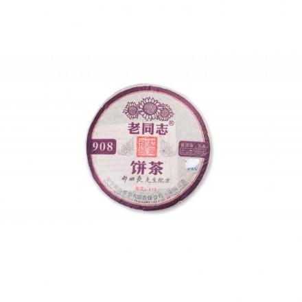 """Шу Пуэр Лао Тун Чжи """"908"""" (111),Хай Вань,2011 год. 200 грамм Оригинал"""