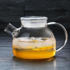Заварочный стеклянный чайник со стеклянной крышкой