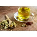 Прессованный зеленый чай с цветами хризантемы.